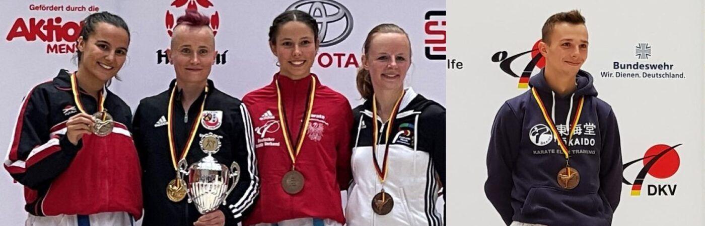 DM 2021: Stella Holczer (zweite von links), Florian Haas